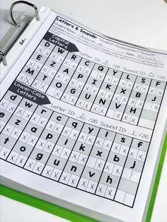 Free Letter & Sounds Assessment Binder for Kindergarten