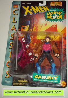 Toy Biz marvel universe X-MEN / X-FORCE series action figures 1996 classics GAMBIT NEW - still factory sealed in the original package figure condition: excellent - never removed, retaining the origina