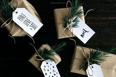41 Sets of Free Printable Christmas Gift Tags: Free Christmas Gift Tags from Gather & Feast