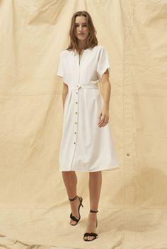 31ee65e09b DRESS NIXON ECRU // ba&sh #maxidress #winterwhite   Cool Brides in ...