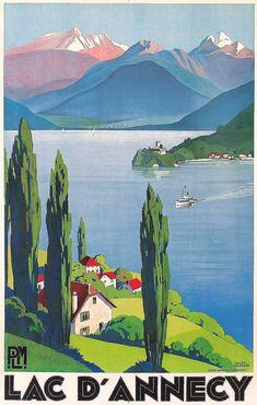 Lago D'annecy , Francia