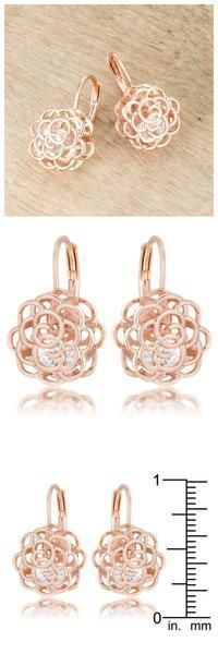 A beautiful rose gold women's earrings made my day. Surely it will make you smile. #fashionJewelry