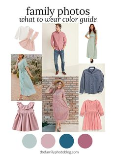 Winter Color Scheme for Family Photos: Pastels. By The Family Photo blog Fall Family Picture Outfits, Spring Family Pictures, Family Picture Colors, Family Photos What To Wear, Fall Family Photo Outfits, Outdoor Family Photos, Summer Photos, Family Pics, Vestidos