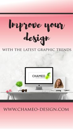 Get a list of 18 graphic trends you should be aware of on http://www.chameo-design.com/trend-research/design-trends/graphics/