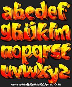 Grafitti Letters, Graffiti Alphabet Styles, Graffiti Lettering Alphabet, Tattoo Lettering Fonts, Graffiti Font, Graffiti Tagging, Graffiti Designs, Graffiti Wall Art, Graffiti Drawing