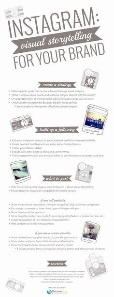 #infografik Tipps für den Einsatz von #Instagram in Unternehmen via @socialsecrets1