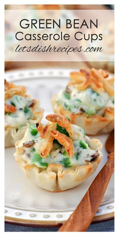 Green Bean Casserole Cups Recipe | This appetizer is a fun twist on the classic Thanksgiving side dish!