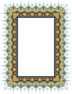 22-Floral Pattern (Khatai) Calligraphy Borders, Islamic Art Calligraphy, Borders For Paper, Borders And Frames, Islamic Art Pattern, Pattern Art, Arabesque, Frame Border Design, Book And Frame