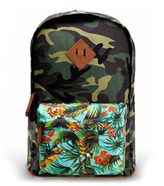 Women's Camouflage Print Travel Rucksack Canvas School Backpack with Contrast Floral Front Pocket ZLYC http://www.amazon.co.uk/dp/B00MP4XJ48/ref=cm_sw_r_pi_dp_Qji7tb0TP3PYC