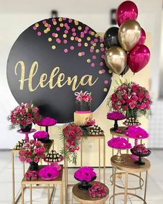 New birthday party deko girl 42 ideas 40th Birthday Parties, Birthday Party Decorations, Wedding Decorations, Decoration Buffet, Balloon Decorations, Shower Party, Shower Games, Diy Party, Ideas Party