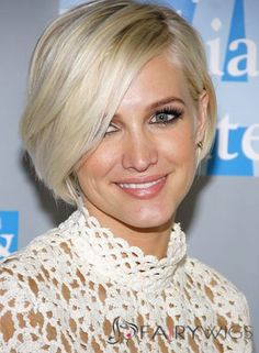 Stunning Lace Front Short Straight Blonde Top Quality High Heated Fiber Hair Wig