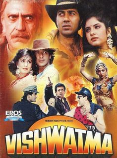 Vishwatma Hindi Movie Online - Naseeruddin Shah, Sunny Deol, Chunky Pandey, Divya Bharti, Raza Murad, Sonam and Jyotsna Singh. Directed by Rajiv Rai. Music by Viju Shah. 1992 [U]