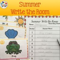 This activity includes 20 different write the room flashcards. All images and vocabulary are linked to the theme of Summer.This come with 2 levels of difficulty. Students can either use flashcards 1-10 or 1-20, depending upon which you think is most suita