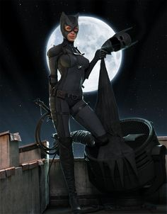 """Sven Juhlin took inspiration from other female villains and created a masterpiece out of the sly Catwoman! """"Selina Kyle"""" a. Catwoman by Sven Juhlin (CGHUB) Via: herochan Comic Book Characters, Comic Books Art, Female Characters, Comic Art, Book Art, Comic Movies, Batman Und Catwoman, Batgirl, Catwoman Mask"""