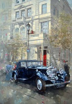Künstler Peter Miller – Vernissage: World of Colours Class … – Autos Retro Cars, Vintage Cars, Antique Cars, Vintage Pictures, Vintage Images, Wall Art Prints, Poster Prints, Bmw Classic Cars, Car Illustration
