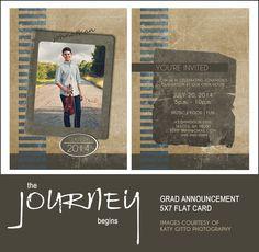 Graduation Announcement Template 5x7 - The Journey