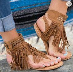 Cheap Women's Sandals, Buy Directly from China Suppliers:Women Sandals Fashion Tassel Summer Shoes Women 2018 New Flat Sandals Female Flip Flops Plus Size Casual Sandale Femme Tassel Heels, Fringe Sandals, Flat Sandals, Gladiator Sandals, Beach Sandals, Flat Shoes, Women's Shoes, Sandals 2018, Trendy Sandals