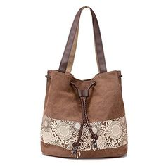 New Trending Shopper Bags: KARRESLY Retro Womens Casual Canvas Daily Printing Lace Shoulder Bag Handle Zipper Tote Large Capacity Shopper Handbag (zk006-Brown). KARRESLY Retro Women's Casual Canvas Daily Printing Lace Shoulder Bag Handle Zipper Tote Large Capacity Shopper Handbag (zk006-Brown)  Special Offer: $17.59  377 Reviews Made of Printing canvas and Multiple pockets, retro and classic. Freely adjustable strap buckle, you can...