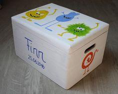 Kisten & Boxen - Spitzbub Erinnerungskiste - lustige Monster - ein Designerstück von Spitzbub bei DaWanda