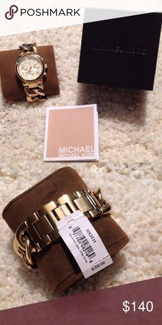 MICHAEL Michael Kors Women's Runway Twist Watch 7 3/4 inch wrist band, brand new with tags, fully functional. MICHAEL Michael Kors Accessories Watches