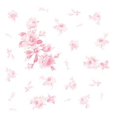 Watercolor Roses in peony pink fabric by lilyoake on Spoonflower - custom fabric