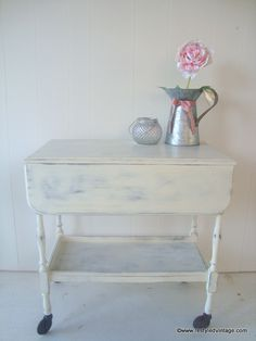 Restyled Vintage: Shabby Chic Tea Trolley