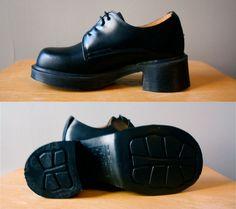 Vintage Doc Martens via Etsy. Pretty sure I had something very similar to this!