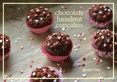 Made with hazelnut flour, these chocolate hazelnut cupcakes are gluten free and taste fantabulous. Gluten Free Cookie Recipes, Gluten Free Brownies, Gluten Free Sweets, Gluten Free Cookies, Gluten Free Baking, Brownie Recipes, Free Recipes, Nutella Frosting, Chocolate Hazelnut