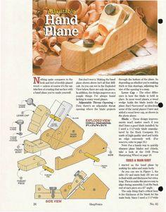 Изготовление рубанка своими руками (фото, рис., англ.яз.) Woodtools - Журналы - ShopNotes N 61