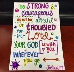 Heather's Divine Designs Sharing God's Word Through Art Joshua 1:9 Custom Made Scripture Note Cards  www.heathersdivinedesigns.com