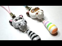 Raccoon with Dangling Tail Polymer Clay Tutorial - YouTube