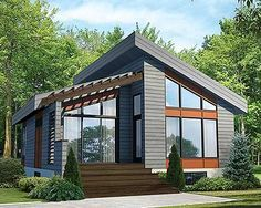 Modern House Plan 80774PM gives you one bed and just over 800 square feet of living space. Ready when you are. Where do YOU want to build?
