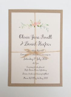 Rustic Floral Wedding Invitation. Boho von FromLeoniWithLove