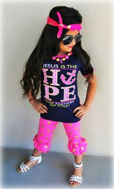 """Jesus is the Hope Anchors My Soul"" Capri Set"