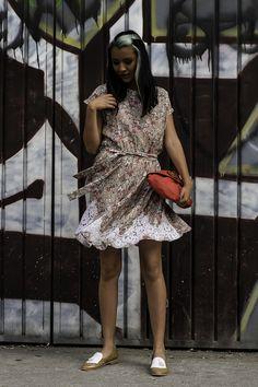 Vestido Natalia 100% textiles reutilizados.