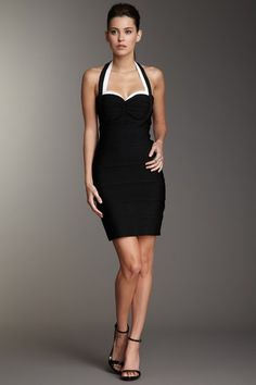 Wow Couture - Retro Halter Dress. Super vintage and chic, looks great on curvy girls.