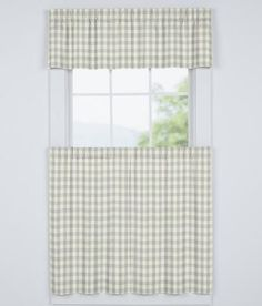 Cabin Check Tailored Valance $29.95
