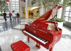 The Red piano signed by Sir Elton John! Yamaha Piano, Baby Grand Pianos, Piano Room, Piano Player, Piano Music, Piano Keys, Dream Rooms, Musicals, Instruments