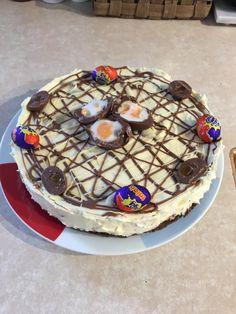 [Homemade] Cadbury Creme egg no bake cheesecake http://ift.tt/2mmLdzm