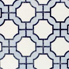 Wallpaper - Imperial Gates Periwinkle - Phillip Jeffries - periwinkle, blue, navy, white, geometric, wallpaper,