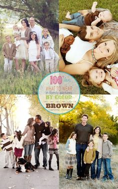 Over 100 outfit inspirations for your next family pictures! These post is dedicated to outfits centered around the color brown.