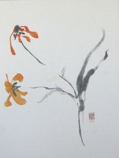"""""""Poem in Two Flowers""""  Sumie  www.lilithohan.com"""