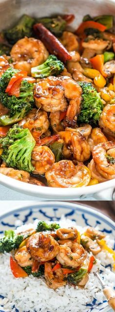 Healthy Teriyaki Shrimp Broccoli Stir Fry Easy Chinese Food 30 minute dinner recipe Fried Rice or Lo Mein Easy Asian Family Dinner via myfoodstory Shrimp Broccoli Stir Fry, Shrimp Fried Rice, Shrimp Stir Fry Healthy, Stirfry Shrimp, Prawn Stir Fry, Fried Broccoli, Garlic Shrimp, Easy Fried Rice, Shrimp Broccoli Alfredo
