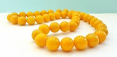 15 Inch Strand of Mustard Colored Malay Jade Gemstone Beads!!  10mm in Size.  42 Gorgeous Beads.  Feminine and Unique!!  Great Beads!! by FunkyCreativeJuices on Etsy