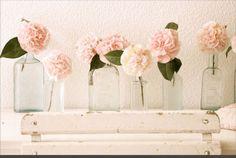 Vintage flowers vases