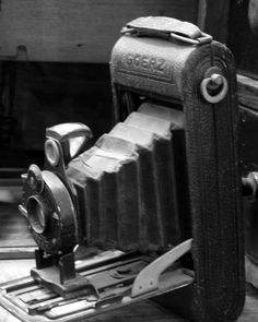 Máquina fotográfica Goerz de fuelle, Sonia Carroza Antiguedades