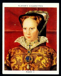 Cigarette Card - Queen Mary I   von cigcardpix