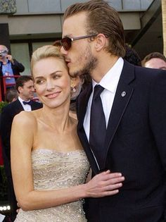 Despite their almost 10-year age difference, Aussie actors Heath Ledger and Naomi Watts enjoyed almost two years together after meeting on the set of 2003's Ned Kelly