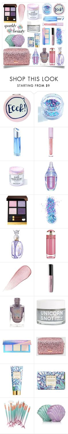 """""""#PolyPresents: Sparkly Beauty"""" by gooddaber ❤ liked on Polyvore featuring beauty, Disaster Designs, In Your Dreams, Thierry Mugler, Lime Crime, Mod Bath and Body, Tom Ford, Anna Sui, Prada and Estée Lauder"""