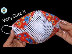 Easy Sewing Projects, Sewing Hacks, Sewing Tutorials, Sewing Crafts, Diy Mask, Diy Face Mask, Face Masks, Mascara 3d, Simple Embroidery Designs